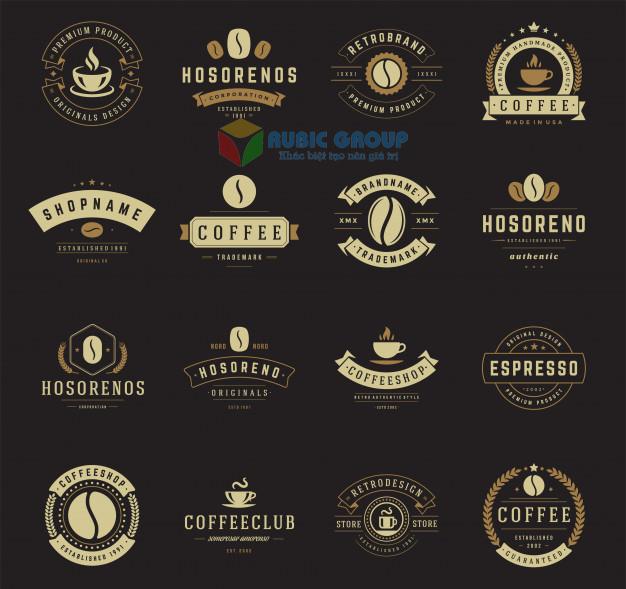 thiết kế logo quán cafe 2