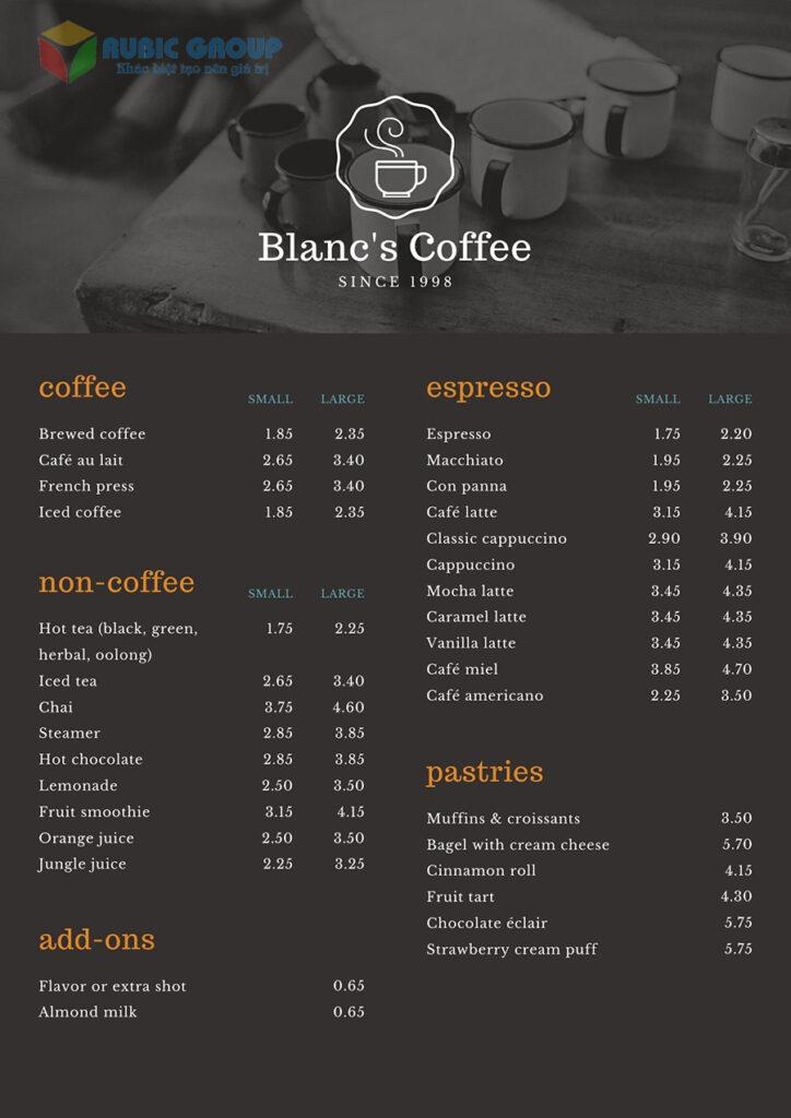 thiết kế menu trà sữa đẹp 2