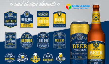 Thiết kế nhãn chai giá rẻ, sáng tạo và thu hút mang lại hiệu quả