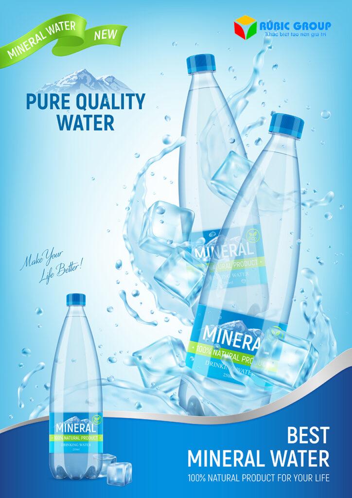 thiết kế nhãn chai nước suối 2