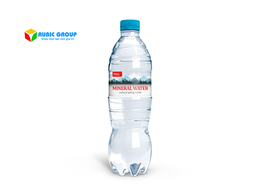 thiết kế nhãn chai nước suối 3